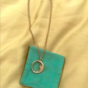 Tiffany & Co. moon pendant necklace